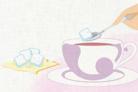 この飲み物には砂糖が入っている。の英作文