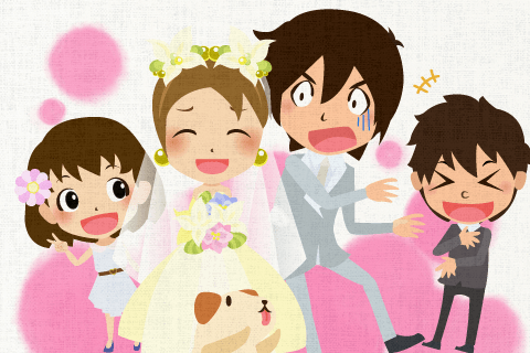 結婚式はとても楽しかったです。の英作文