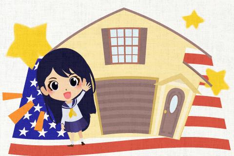 私はアメリカへ1年間ホームステイしていた。の英作文