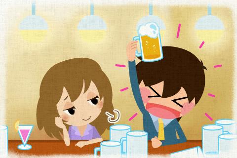 彼はビールをたくさん飲む。の英作文