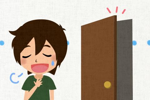 何度か試してみてついにそのドアを開けることができた。の英作文