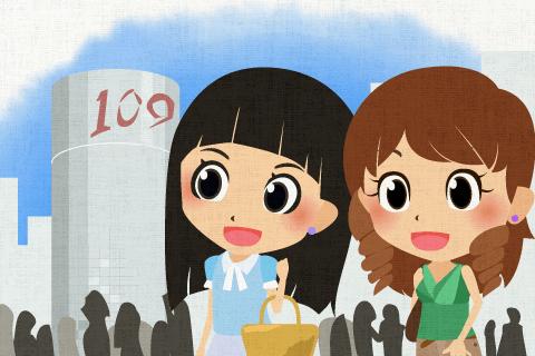 渋谷(Shibuya)には若い人が多い。の英作文