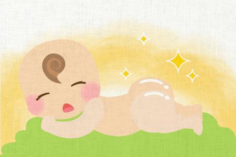 赤ちゃんのお尻はすべすべだ。の英作文