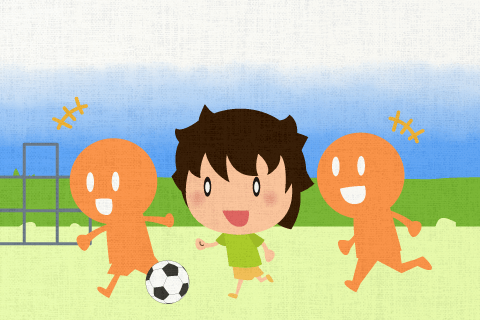 僕は毎日この公園でサッカーをしています。の英作文