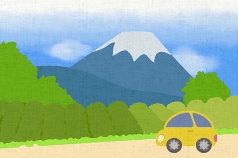 私の車で友達と静岡(Shizuoka)に行った。の英作文