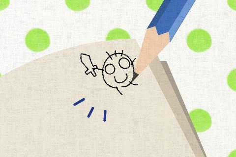 私は教科書に鉛筆で絵を描いた。の英作文