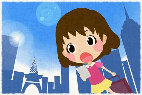 去年初めて海外へ行きました。の英作文