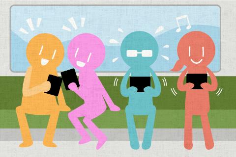최근 출근길에 게임을 하고 있는 사람의 수가 증가하고 있는 느낌입니다.의 영작문