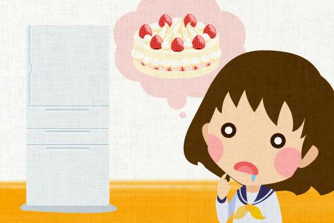 冷蔵庫にケーキがあったかもしれない。の英作文
