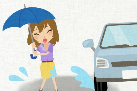 雨が降った場合の対応についてちゃんと考えておけばよかった。の英作文