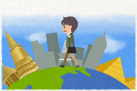 세계 일주 여행을하는 아버지의 꿈입니다.의 영작문