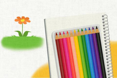 この花の絵を描くなら、12色入りの色鉛筆で間に合う。の英作文