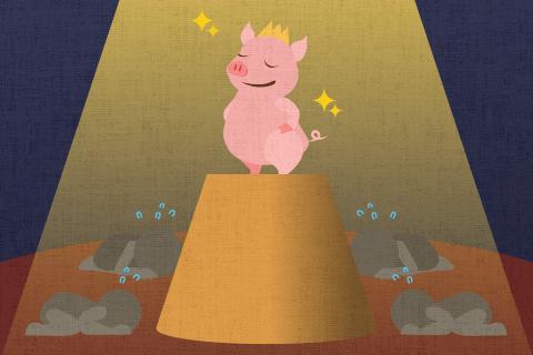 豚に対する私たちの態度を改める時期にきている。の英作文