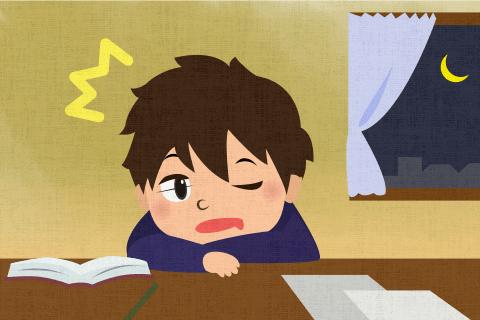 勉強しているうちに寝込んでしまったらしい。の英作文