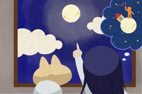 人が月に住む日が来ると思いますか?の英作文