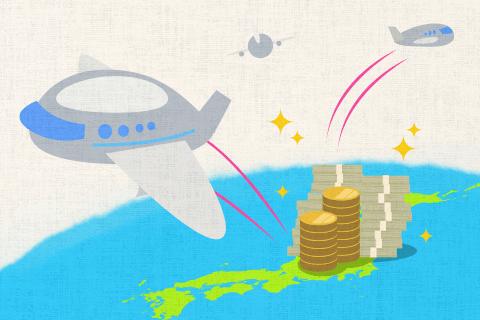 年々、円高のために外国に行く日本人が増えている。の英作文