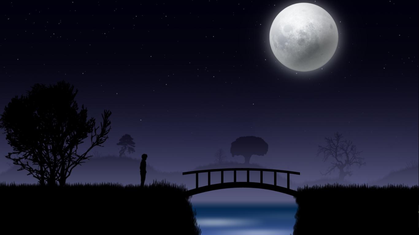 star sky moon