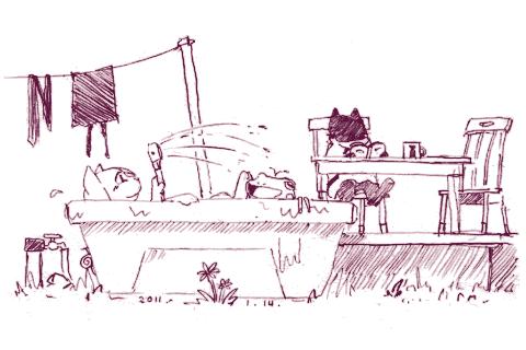 kero blaster sketch