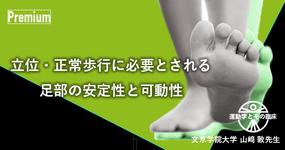 【運動学とその臨床】立位・正常歩行に必要とされる足部の安定性と可動性 -文京学院大学 教授 山﨑 敦先生 -