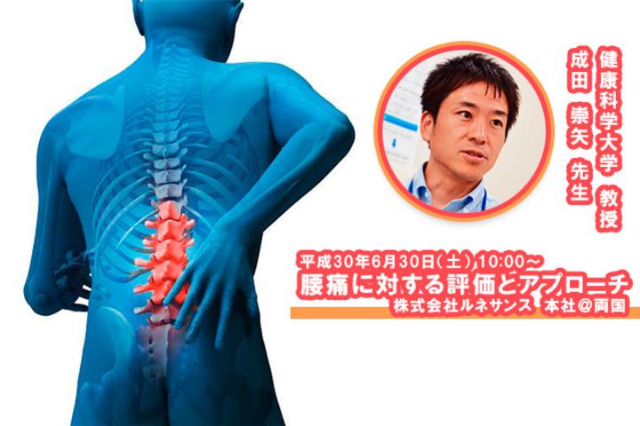 腰痛に対する理学療法評価とアプローチ-健康科学大学 教授|成田崇矢 先生-