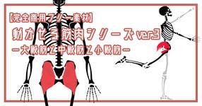 【完全商用フリー素材】動かせる筋肉シリーズver.3ー大殿筋と中殿筋と小殿筋ーno.2