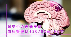 脳卒中の再発予防 血圧管理は130/80mmHgで