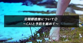 足関節捻挫について②〜CAIと予防を絡めて〜