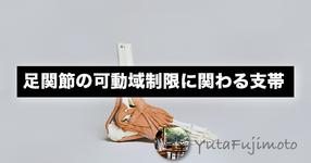 足関節の可動域制限に関わる支帯