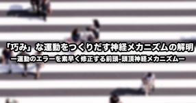 【京都大学】「巧み」な運動をつくりだす神経メカニズムの解明ー運動のエラーを素早く修正する前頭-頭頂神経メカニズムー