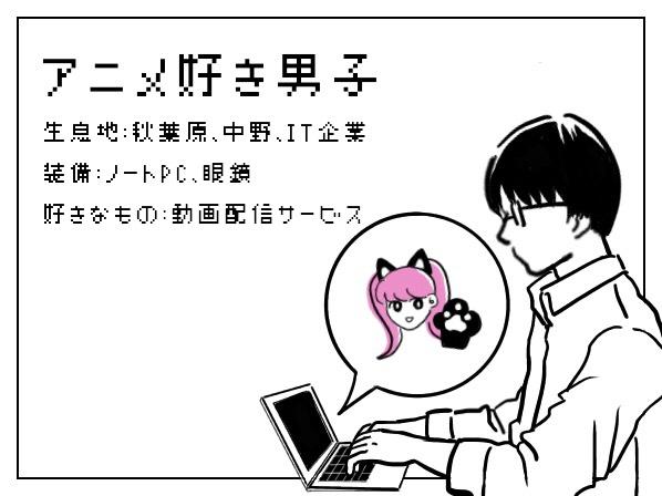 アニメ好き男子