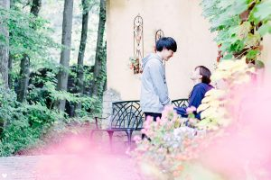 花とカップル