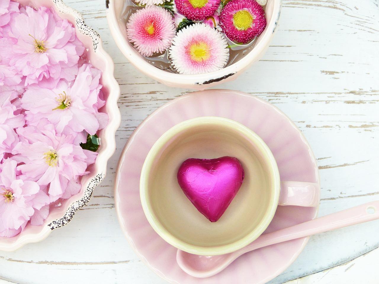 コーヒーカップの中のハート