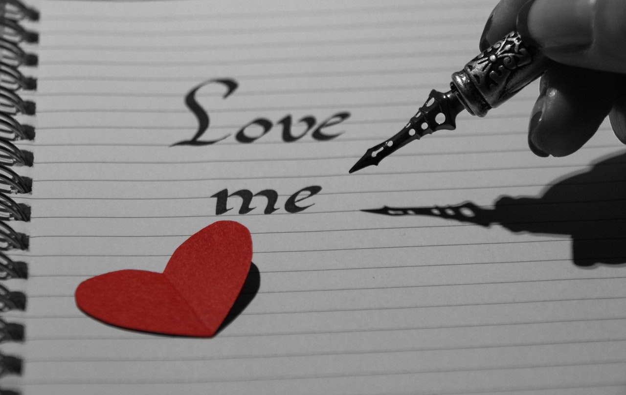 ノートにLove me