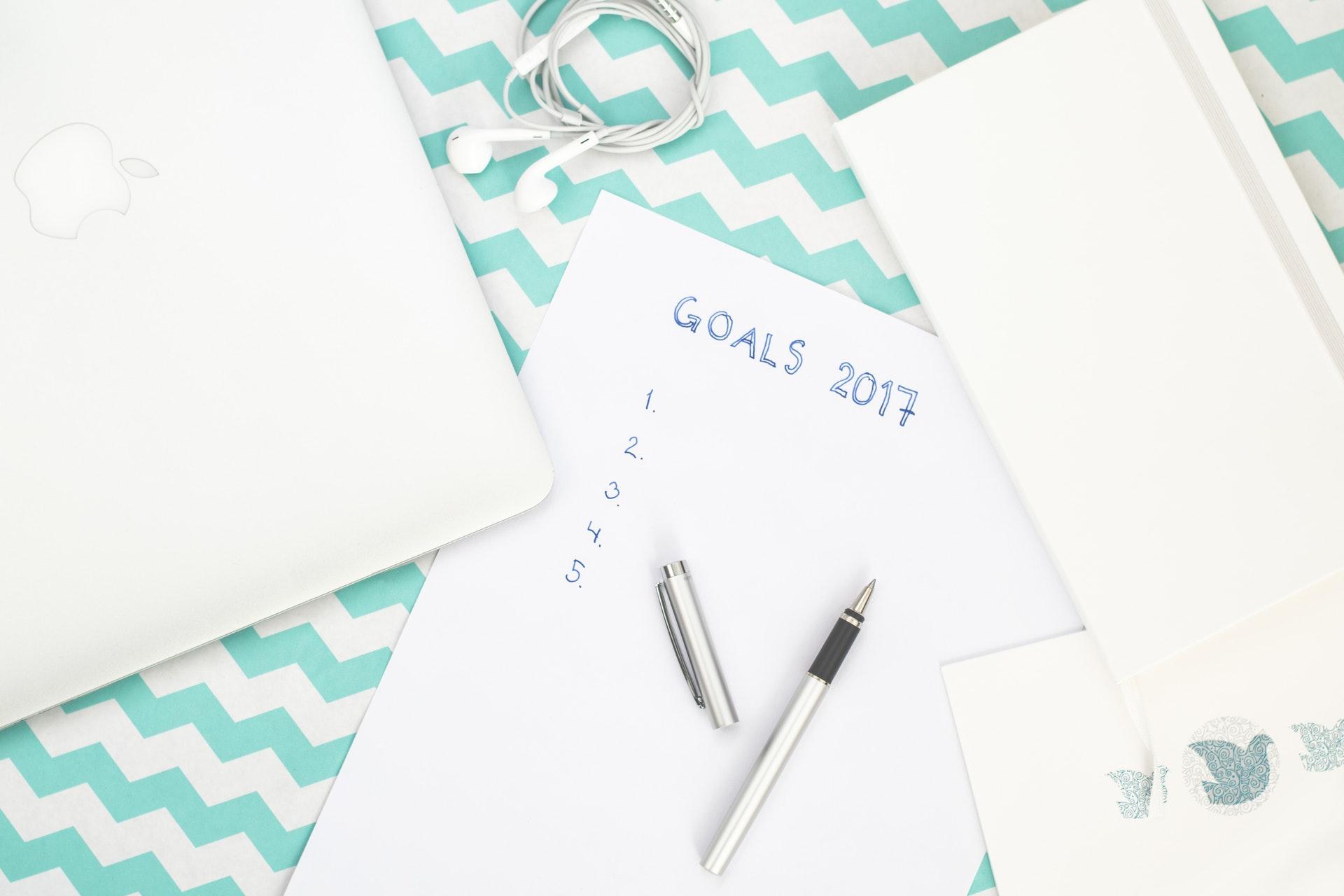 目標を書き出す