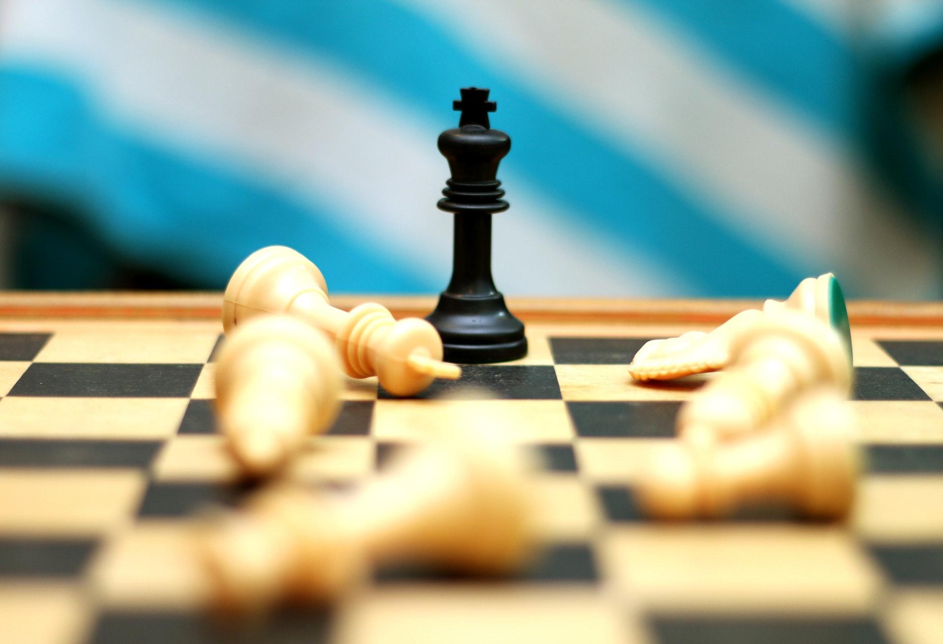 プレイ中のチェス