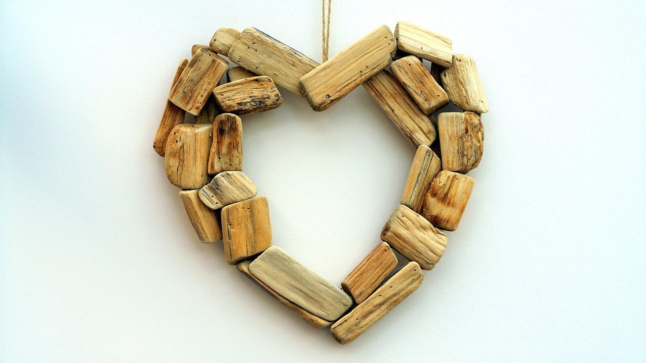 木製のハート