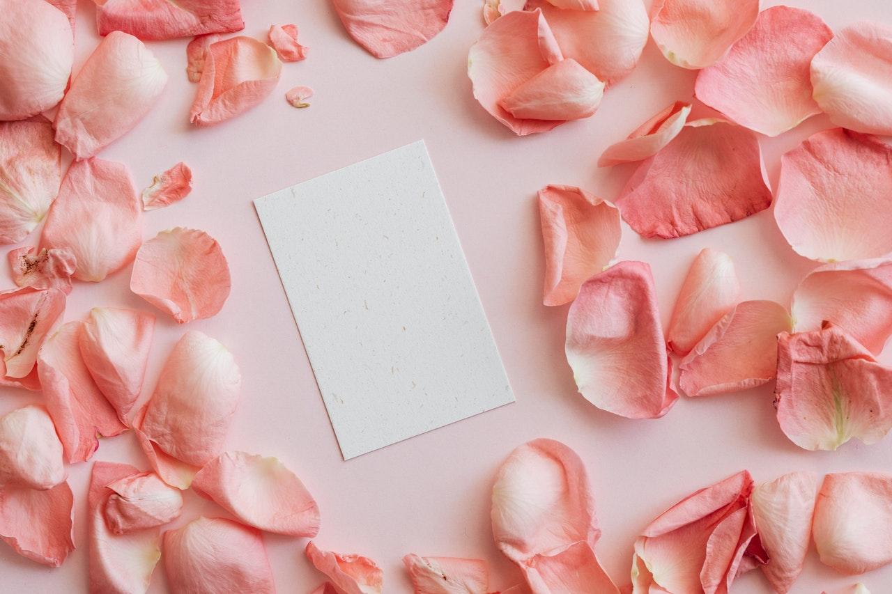 花びらとメモ