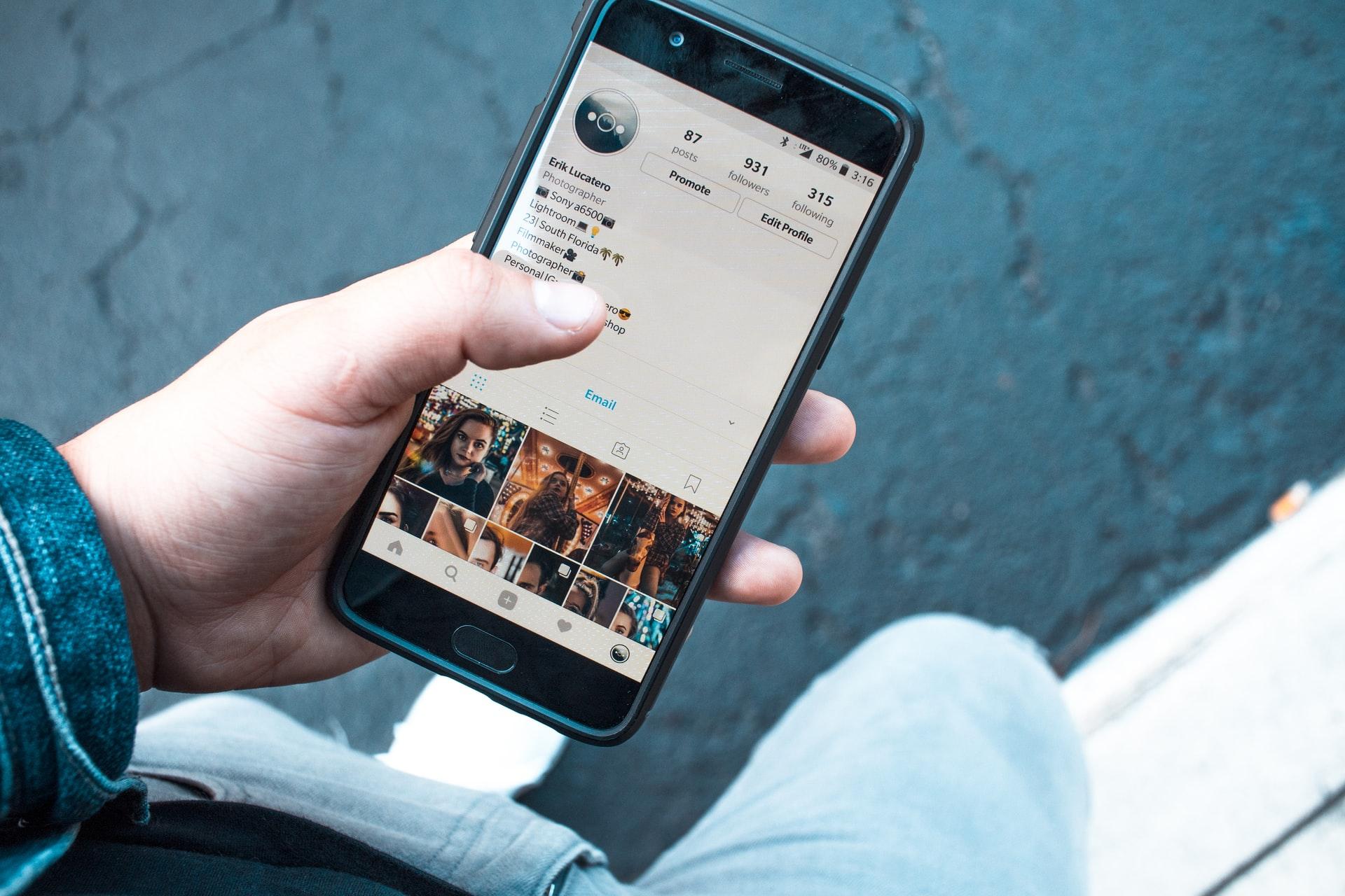 携帯の画面