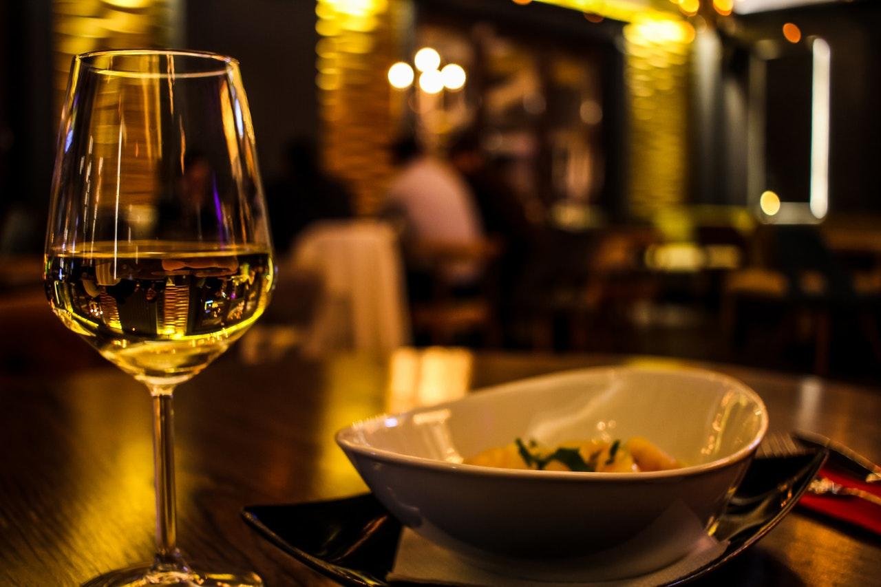 食事とワイン