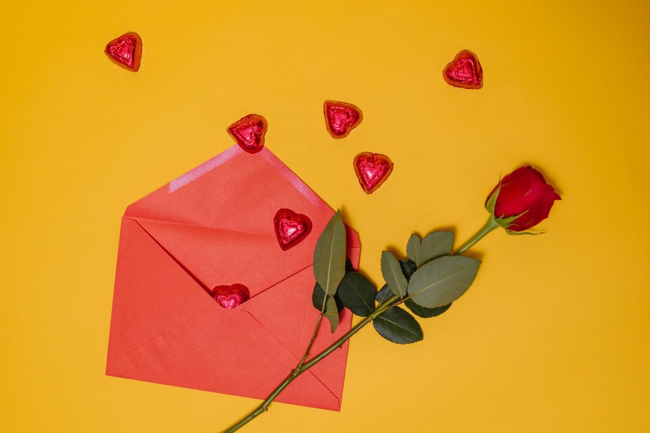 手紙とハート