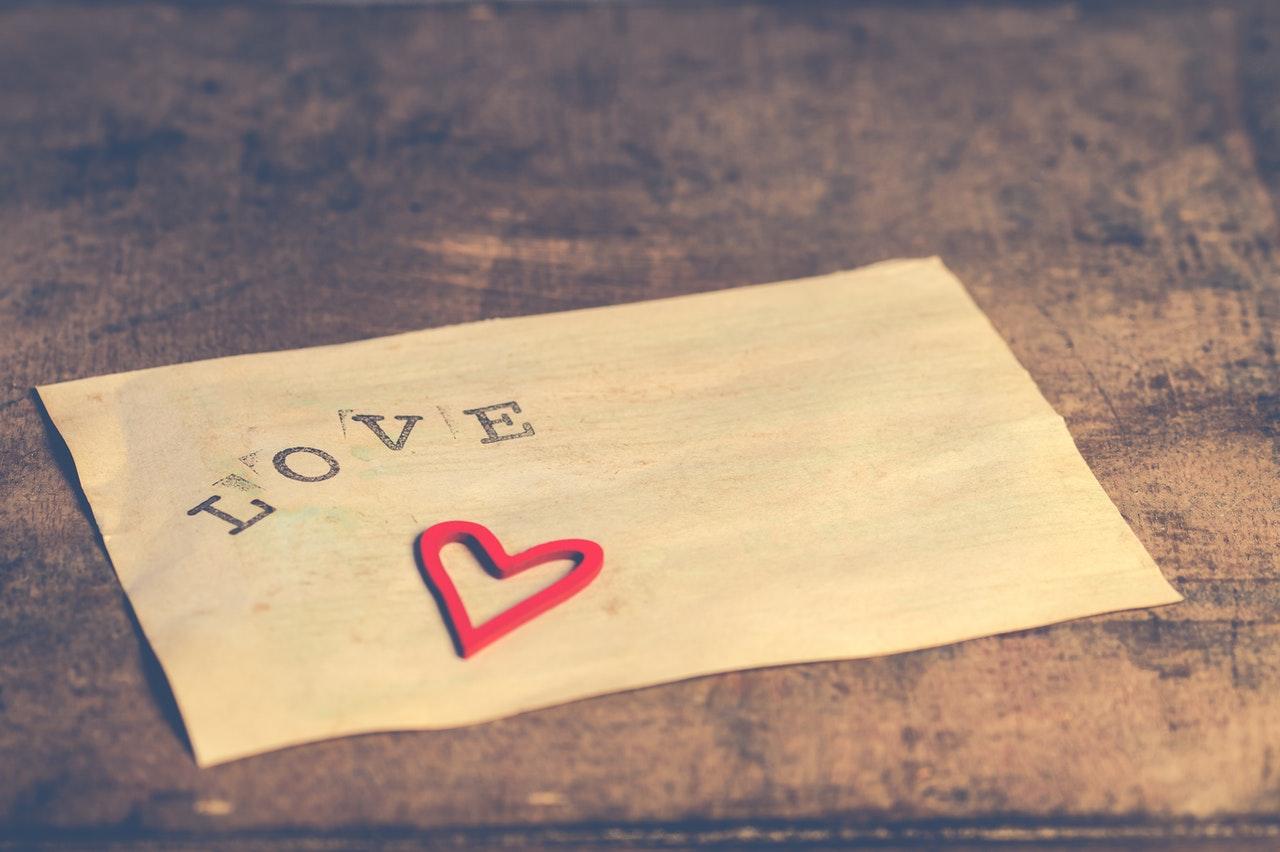 loveとハートのメモ用紙