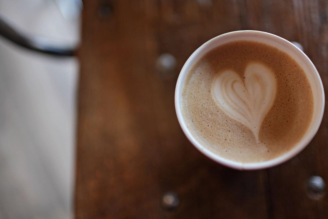 コーヒーでハート