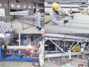 原子力・ガスに次ぐ、高い技術力を要する、インフラを守る水管橋。