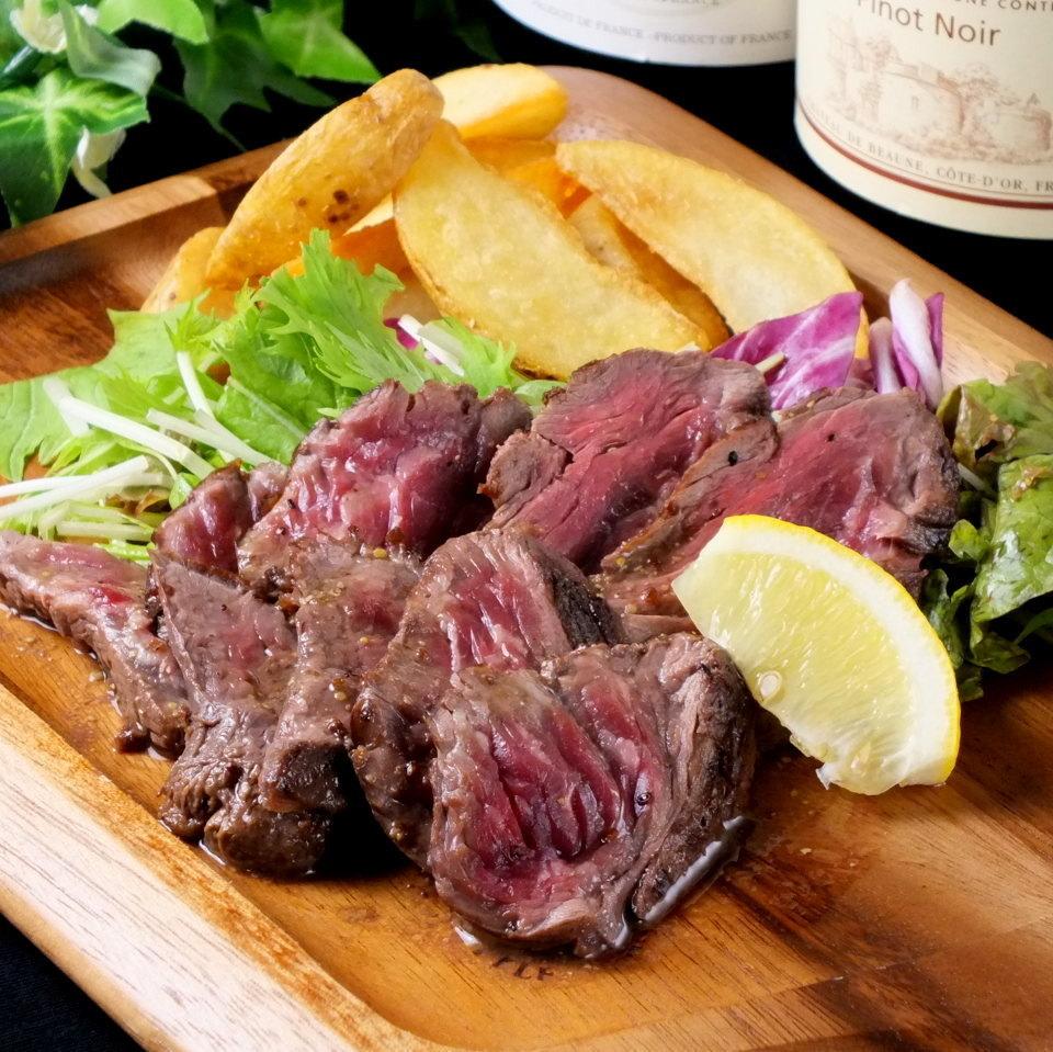 Tagliata of beef skirt steak