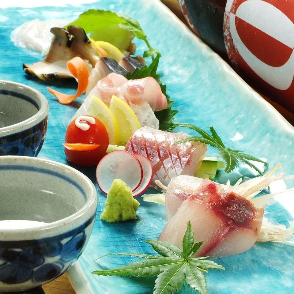 Assorted luxurious make-up of Setouchi fresh fish