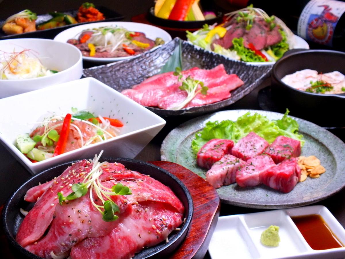 和牛と和牛創作料理を味わう!200種の120分飲み放題付【料理12品】5000円コース