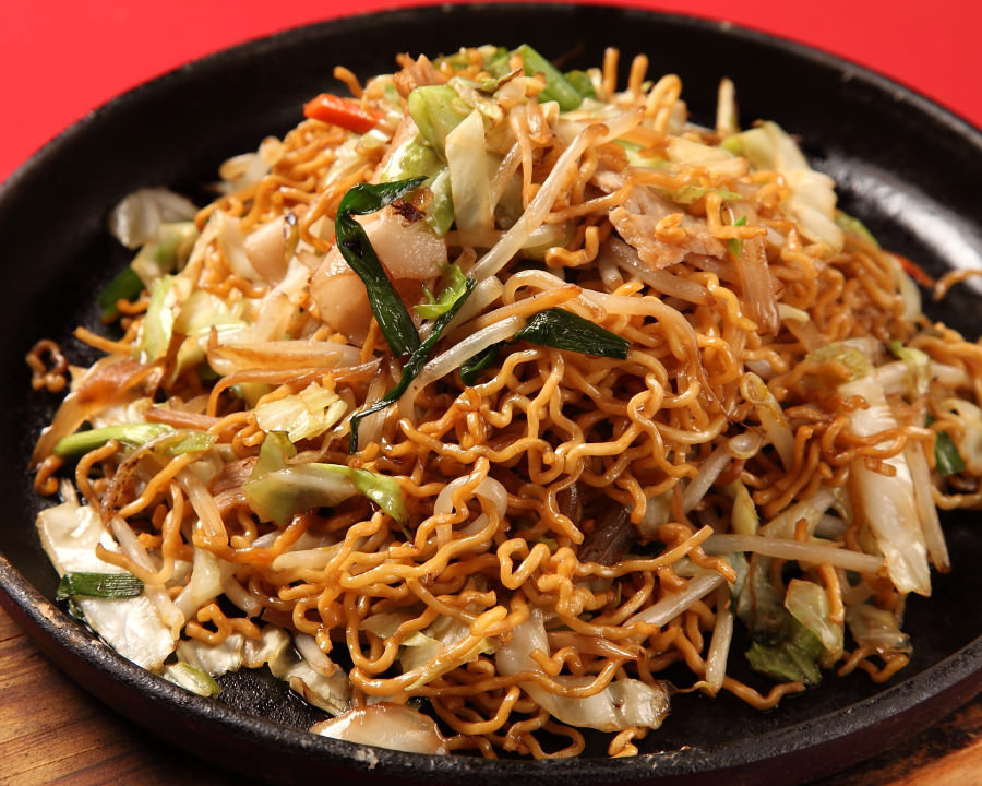 Iron plate source chow mein