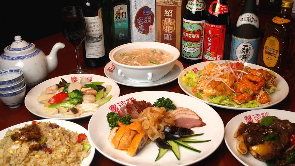 高級課程B♪全友可以喝一杯★享受三種海鮮快炒,鹿肉等所有11個菜!