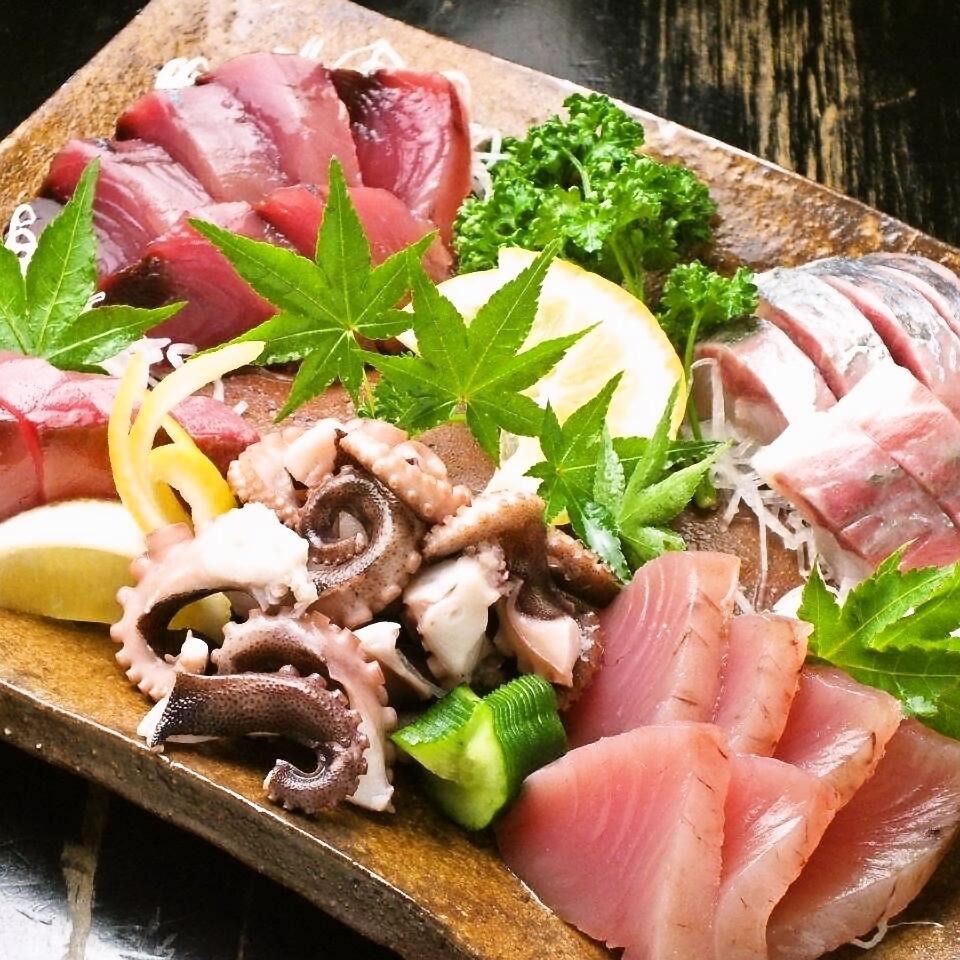 享受新鮮的魚和直接從瀨戶內海全國各地的新鮮魚!
