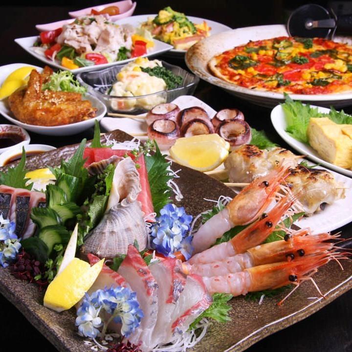 [週六和週日限定套餐]所有10個菜3H都可以用4000日元(不含稅)飲料